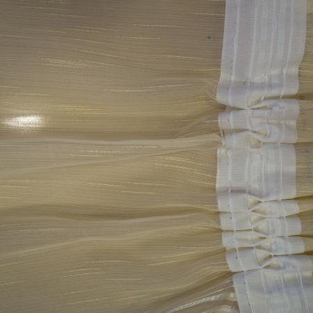 Perdea Velaria sable unt flori maro, 300x45 cm2