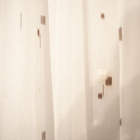Perdea Velaria sable patrat in patrat alb cu wenge [1]