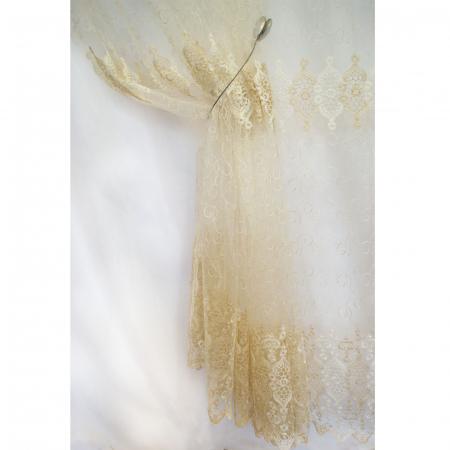 Perdea Velaria tiul auriu cu imprimeu baroc, 450x245 cm [3]