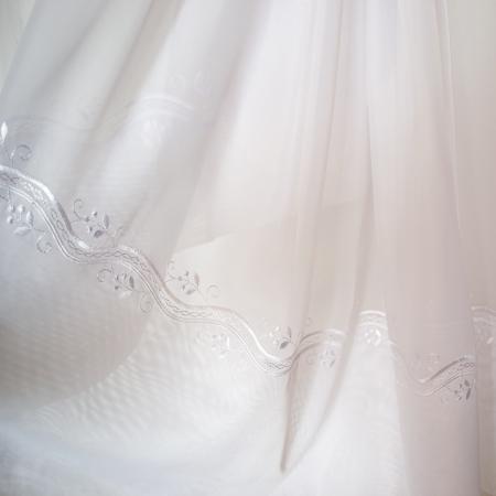 Perdea Velaria voal alb cu bordura, 290x245 cm1