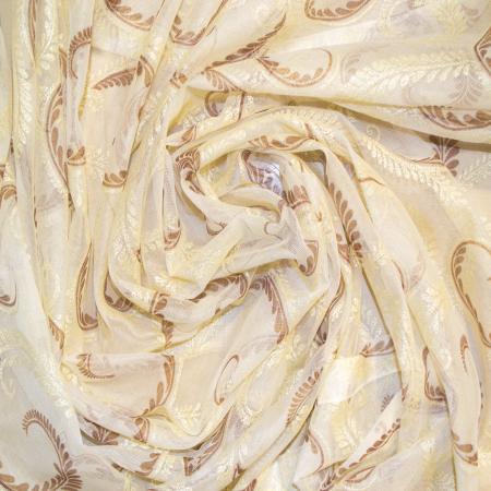 Perdea Velaria organza baroc arabesc, 105x245 cm1