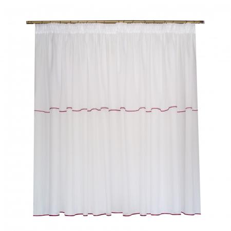 Perdea Velaria in cristal alb cu fir rosu0