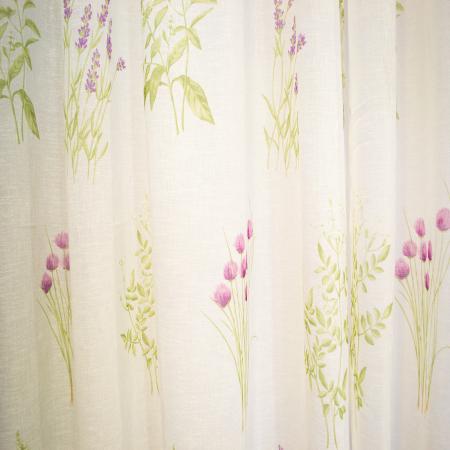 Perdea Velaria de bucatarie cu imprimeu lavanda, 240x215 cm2
