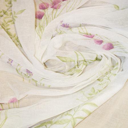 Perdea Velaria de bucatarie cu imprimeu lavanda, 240x215 cm1