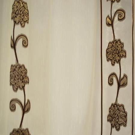 Perdea Velaria sable flori maro, 550x60 cm2