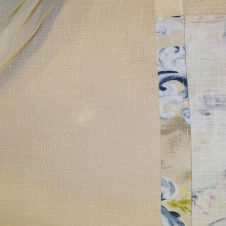 Perdea Velaria in bej cu imprimeu floral, 325x135 cm3