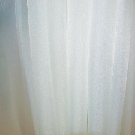 Perdea Velaria voal crep ivoire cu dantela, 240X175 cm4
