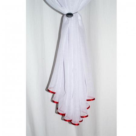 Perdea Velaria in alb cu maci rosii2