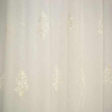 Perdea Velaria baroc alb brodat, 200x165 cm1