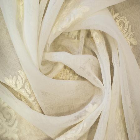 Perdea Velaria baroc alb brodat, 200x165 cm2