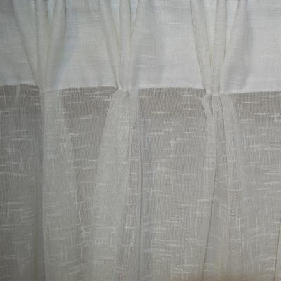 Perdea Velaria in dungi baroc ivory cu plii, 400x270 cm1