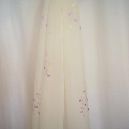 Perdea Velaria voal imprimeu lila, 120x245 cm2
