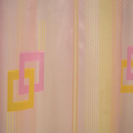 Perdea Velaria voal roz cu auriu, 300x250 cm4