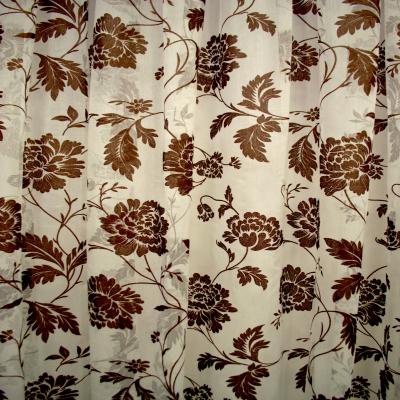 Perdele fancy cu floare wenge 455x245 cm2