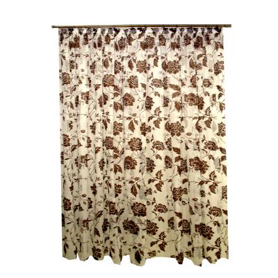 Perdele fancy cu floare wenge 455x245 cm0