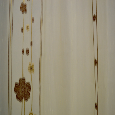 Perdele Velaria sable cu flori wenge1
