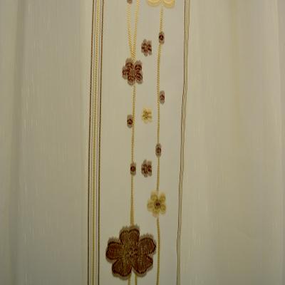 Perdele Velaria sable cu flori wenge2