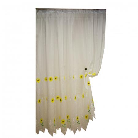Perdele Velaria bucatarie floarea soarelui crem2