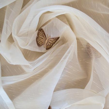 Perdele Velaria ivoire cu fluturi maro [1]
