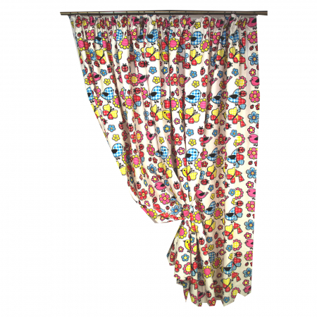 Set draperie Velaria Bucatarie Multicolor 140x172x20