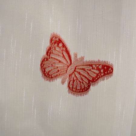 Perdele Velaria sable cu fluturi rosii1
