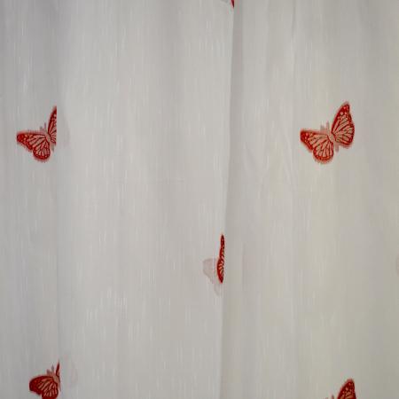 Perdele Velaria sable cu fluturi rosii2