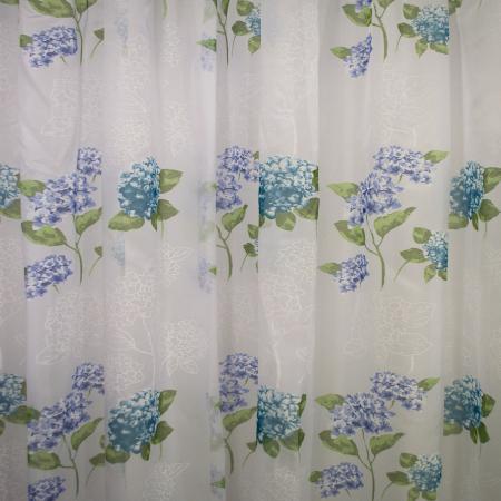 Perdele velaria voal flori turqoise 410x245 cm3