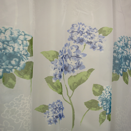 Perdele velaria voal flori turqoise 410x245 cm2