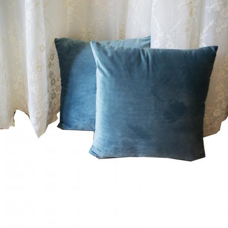 Perna Velaria Catifea Albastru Marin 40/40 cm1