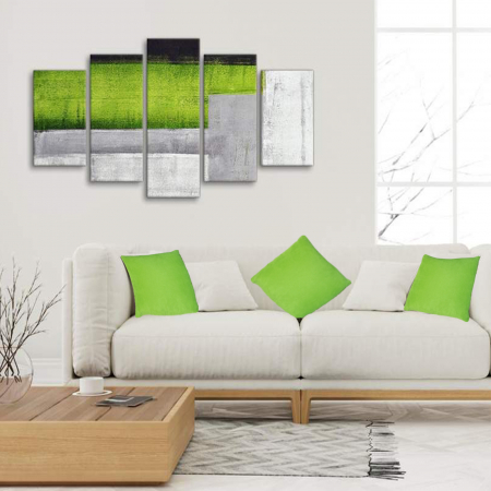 Set 3 perne Velaria verde deschis, 40/40 cm1