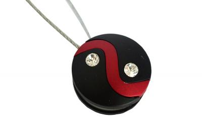 Set 2 magneti decorativi cu sufa metalica 13 cm, rosu/negru1
