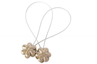 Set 2 magneti decorativi Velaria, floare cu sufa metalica 25 cm2