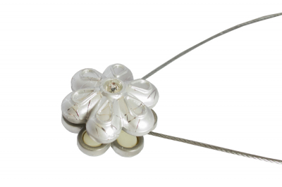 Set 2 magneti decorativi Velaria, floare cu sufa metalica 25 cm1