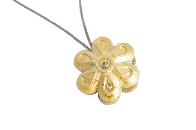 Set 2 magneti decorativi Velaria, floare cu sufa metalica 25 cm5