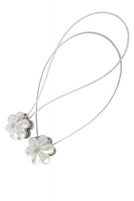 Set 2 magneti decorativi Velaria, floare cu sufa metalica 25 cm0
