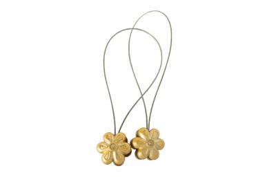 Set 2 magneti decorativi Velaria, floare cu sufa metalica 25 cm3
