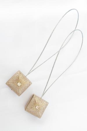 Set 2 magneti decorativi Velaria, patrati cu sufa metalica 25 cm0