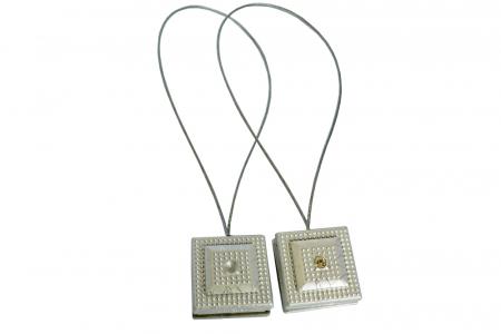 Set 2 magneti decorativi Velaria, patrati cu sufa metalica 25 cm [1]