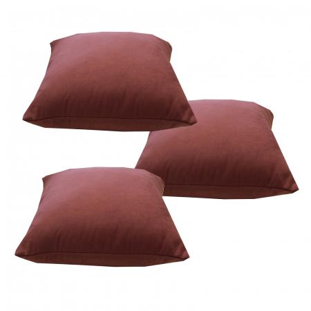 Set 3 perne Velaria roz inchis, 40/40 cm2