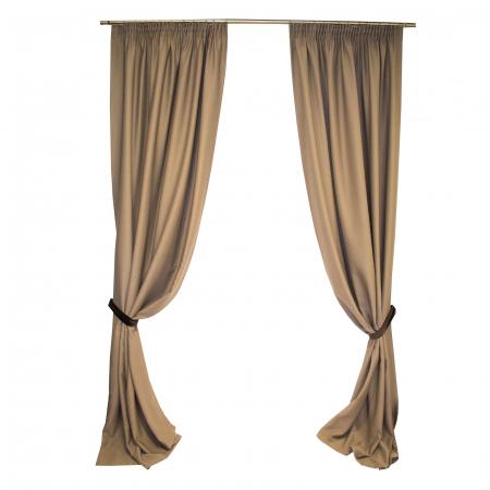 Set draperie Velaria blackout nuca, 2x150x290 cm, cu rejansa0