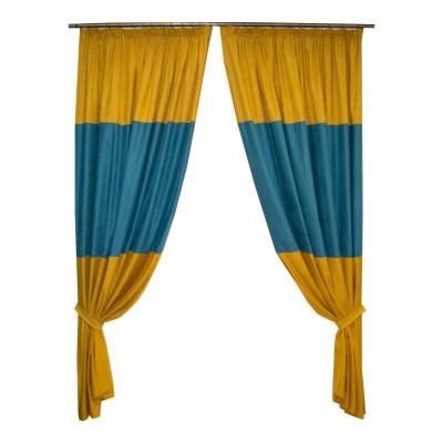 Set draperii galben-turcoaz, 2x175x245 cm0
