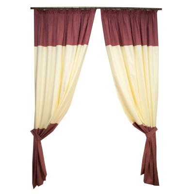 Set draperii roz cu parte unt, 2x150x260 cm0