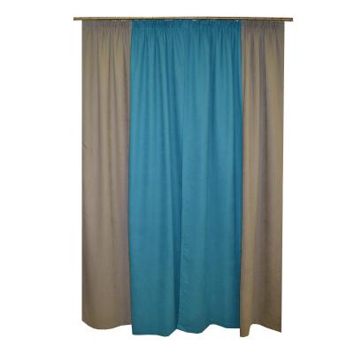 Set draperii Velaria turcoaz-gri, 2x130x260 cm2