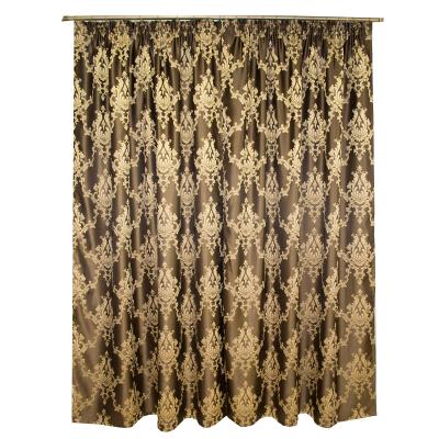 Set draperii tafta wenge cu model 2x140x225 cm1