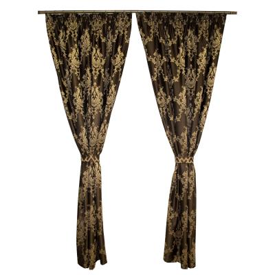 Set draperii tafta wenge cu model 2x140x225 cm0