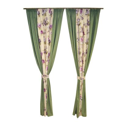 Set draperii Velaria floral mov cu verde, 2x175x245 cm0