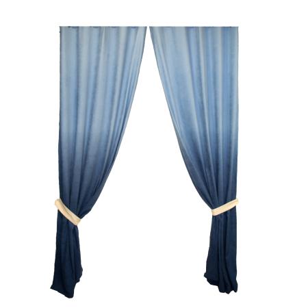 Set draperii Velaria degrade albastru cu rejansa0
