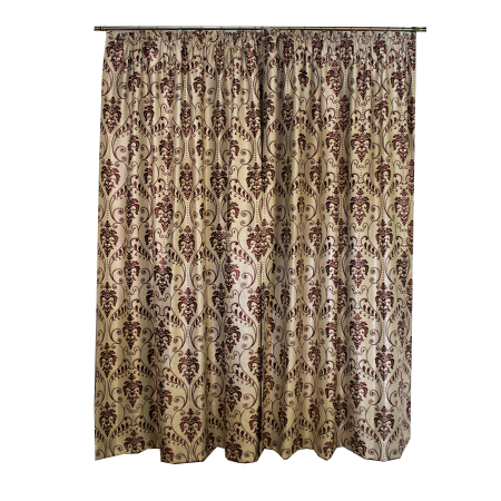 Set draperii Velaria baroc grena, 2*150x255 cm2