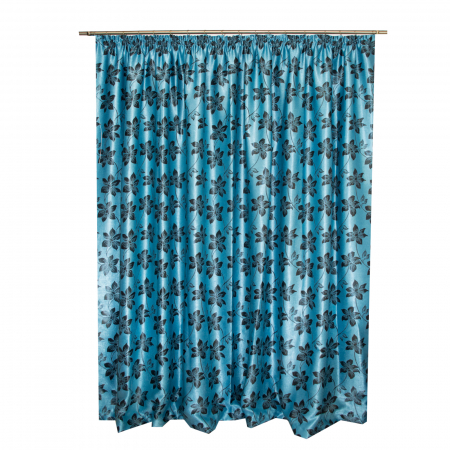 Set draperii Velaria blackout cu flori, 2*150x270 cm2