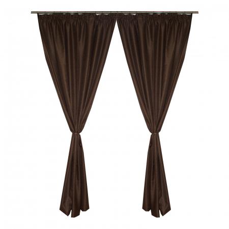 Set draperii Velaria sac maro, 2*155x235 cm0